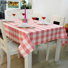 Pink plaid restaurant table cloth chair cover cloth table cloth cover various kinds of fancy customize(China)