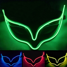EL Emission Fox Masks Cold Light Cosplay Glow Party Masks LED Glowing Party DJ Dance Carnival Masks Party Decor Accessories