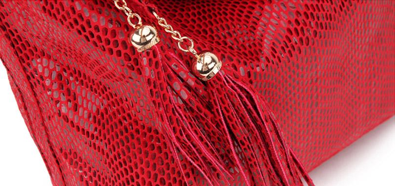 Women Snake Leather Shoulder Bag Female Serpentine Pattern Hobos Bags Tassel Big Handbag Luxury Designer Ladies Tote SS0309 (3)