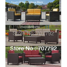 2017 New Products Resin Wicker Upholstered 4-Piece Outdoor New Model Sofa Set