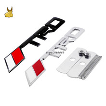Automobile Front Grille Emblem Badge TRD Logo Metal Car Emblem And Badge For Toyota Camry Corolla Yaris Levin RAV4 Car Styling(China)