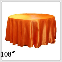 10pcs 108'' Round Satin table cloths round  table cloths for weddings cloth orange