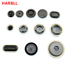 HARBLL Car Chassis spare tire round hole rubber dust plugs waterproof cover plastic fastener clip For Audi A4L A3 A6L Q3 Q5 Q7(China)