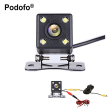 Buy Podofo Car Rear View Camera IP68 Waterproof 4 led Night Vision Wide View Angle Back Reverse Parking Assistance Backup Cameras for $5.17 in AliExpress store