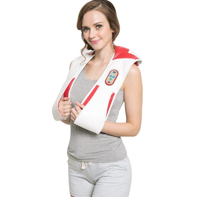 Intelligent massage cape , cervical massager neck , shoulder massager pound back instrument 15 minutes timing<br>