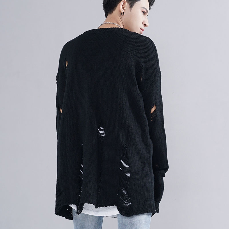 Ripped Destroyed Holes Distressed Sweaters 3