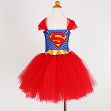 Children Girl Cartoon Tutu Dresses Kids Fancy Princess Cosplay Halloween Costume Tulle Dress