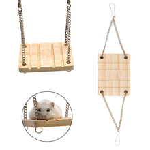 Animals Products Hamster Chinchilla Toys Wooden Swing Harness Hanging Bed Parrot Pet Hanging Pet Toys Accessories
