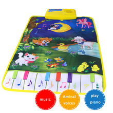 Baby Piano Mats Music Carpets Newborn Kid Children Touch Play Game Musical Carpet Mat Animal Moon Blanket Rug Toys gift animal(China)