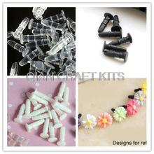 1000pcs Rubber anti dust plug for iphone ipad and other 3.5cm ear phone flatback for fix glue on mixed colors(China)
