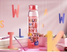 420ml Double Layer Glass Water Bottle colorful bottle Tea Fruit flower bottle Transparent Water Bottles Infuser