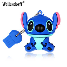 Silicone Stitch USB Flash Drive 64GB 32GB 16GB 8GB 4GB USB 2.0 Pen Drive USB Stick Memory Drive External Storage(China)