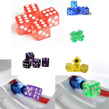New Many Colored Universal Car Motorcycle Dice Style Wheel Tyre Tire Valve Stem Air Dust Caps Covers