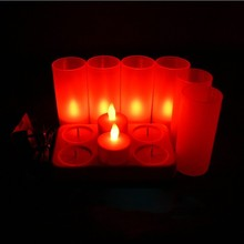 Novelty Tea Candle Lights households Rechargeable candle LED night light electronic table lamps home indoor wedding decorations(China)