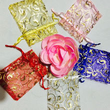 50 pcs Wedding Decoration Organza Jewelry Candy Bags Pendent Mixed Color Mini Gift Pouch Bags Wedding Party Decorations