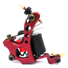 Tattoo Machine Aluminum Alloy 10 Wraps Coils Equipment Supply Liner Shader Gun Beauty Health Tools Free Shipping