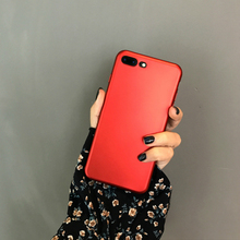 matte PRODUCT RED phone case for iPhone 7 case Metal red black Ultra thin TPU shell for apple iPhone 6s 6 6plus 7 7plus