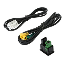 Overseas stock Car Style Audio Vedio USB AUX Cable Switches Plug for VW Passat B6 B7 CC Touran POLO Facelift(China)