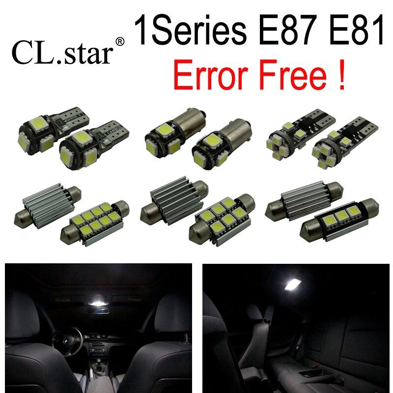 13pcs Error free LED bulb Interior Light Kit  for bmw 1 series E87 E81 116i 118d 118i 120d 120i 123d 130i 135i M 135i (03-11)<br>