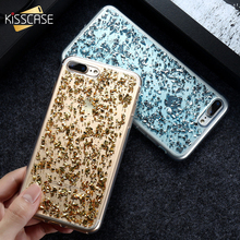 KISSCASE Case For iPhone 7 6 6S Plus 5 5S SE Bling Glitter Silicon Case For Samsung Galaxy S8 S8+ S7 Edge AJ 2017 Huawei P8 Lite