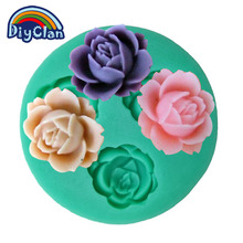 New silicone lovely flower chocolate molds fondant mold moldes de silicone para confeitaria cake decorating baking F0017HM35(China)
