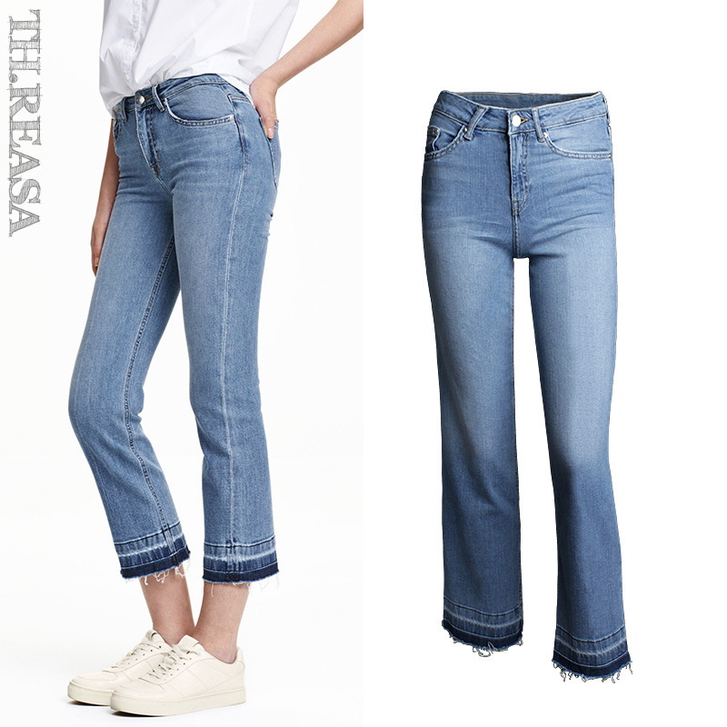 Autumn Jeans Woman High Waist Jean Pants Woman Fashion Sexy Ripped Jeans for Women American Apparel Jeans Femme Wide Leg PantОдежда и ак�е��уары<br><br><br>Aliexpress