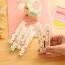 1 Pics Cube Pencial Kawaii Eraser Cute School Supplies Stationery Erasers Correction Products(China)