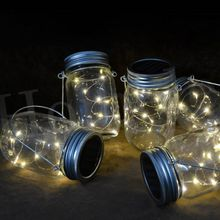 1M/2M LED Mason Jar Fairy Light With Color Changing Or White LED for Glass Jar Lid Lights Party Decor Garden Decor