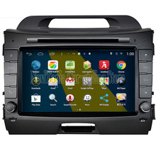 Brand New 1024*600 Quad Core 16G 8'' Pure Android 4.4.4 System Car PC for Kia sportage 2014 New Car DVD Multimedia Player
