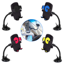 New Universal Car Windshield Mount Holder phone Cars Holder For iPhone 5S 6/6s plus 7/7 plus  MP3 iPod GPS Samsung S7 DY-fly