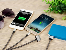 Portable USB 3 in 1 Charge Cable Multi Charger Cable compatible for Iphone 6 5s 4 digital camera PDA Cell phone MP3 PSP