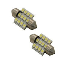 Vehicle Car Accessories 2x Aqua Blue 31mm 12-SMD DE3175 DE3022 LED Bulbs For Car Interior Light