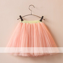 2016 Summer TuTu Skirt Girls Cute Baby Girl Tulle Skirts 2-6Y Childrens Clothes Wholesale