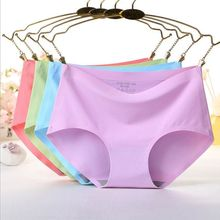 Buy 9 Colors Women Sexy Lace High Waist Seamless Underwears Boyshorts Lady Panties Briefs Lingerie Intimates Knickers Bottom Female