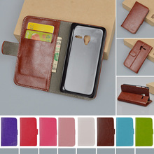 Hot PU Leather Case For Alcatel One Touch Pixi 3 4inch OT 4013X 4013D 4050X 4050D Flip Cover With Stand Card Slots Phone Bags
