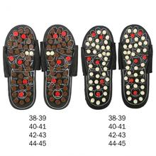 Magnet Therapy Foot Massager Shoes For legs Blood Activating Anti-stress Reflexology Acupuncture Massage Mat Feet Care Slippers(China)