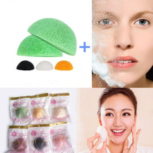 Natural Konjac Sponge Puff Cleansing Cotton Bamboo Charcoal Cleaning Flapping Amorphophallus Konnyaku Wet Sponge Skin Care Tools