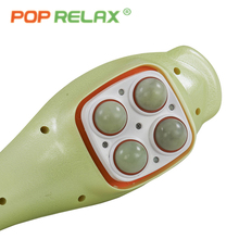 POP RELAX electric vibrator jade massager light heating therapy natural Jade stone body relax handheld massage device massager(China)