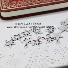 Antique Silver Metal Zinc Alloy Small Pentagram Charms Diy Jewelry Stars Pendant Charms Making 100pcs/lot 15*19mm 7068