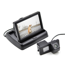 Special Car Parking View Camera for Ssangyong Rexton with 4.3 Inch Folding Car Monitor Car Backup Parking Monitor