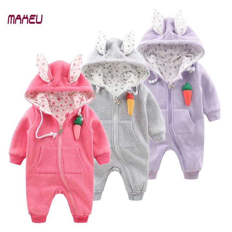 Cute Baby Clothes Baby Boy Girl Cotton Rompers Spring Autumn Toddler Jumpsuits Infant Baby Rabbit Style Rompers<br>