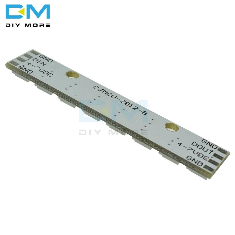 WS2812 5050 RGB LED Lamp Panel Module 5V 8-Bit Rainbow LED Precise for Arduino M