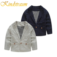 Kindstraum 2017 New Kids Boys Blazers Cotton & Linen Jackets High Quality Chidren Brand Style Party Wedding Formal Outwear,MC726