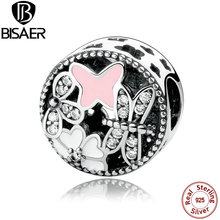 925 Sterling Silver Charm SPRINGTIME CHARM with Butterfly & Dragonfly Charms Fit Pandora  Bracelet Jewelry Making WEUS291