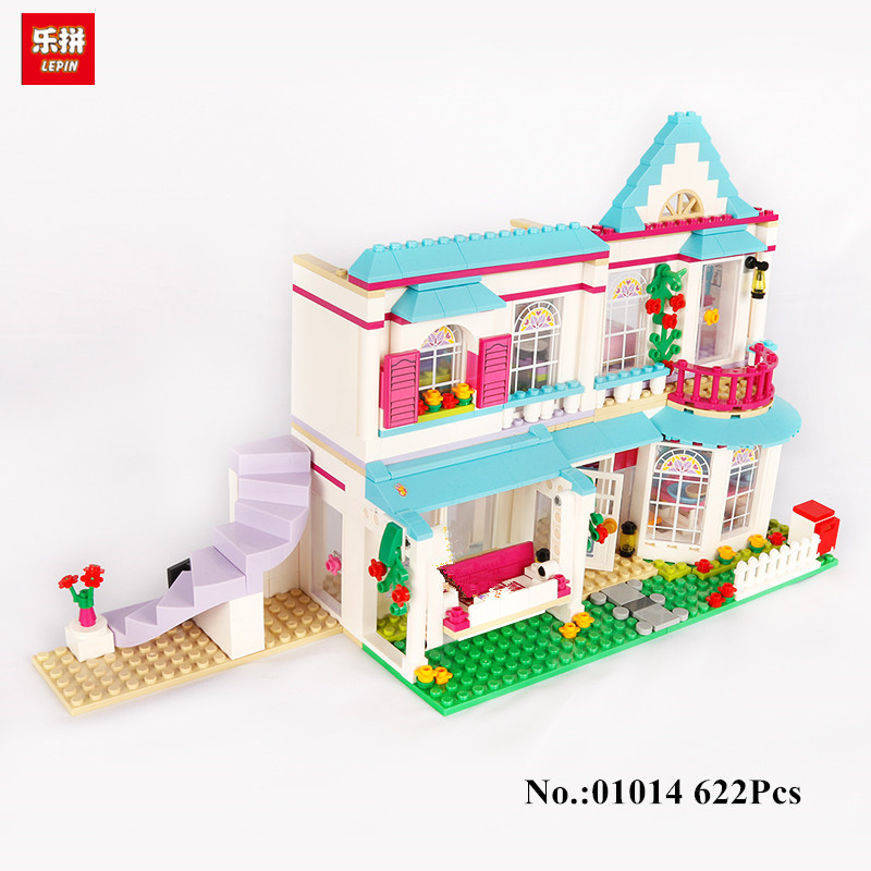 IN STOCK Lepin 01014 622Pcs Genuine Good Friend Girl Series The Stephanie\s House Set Building Blocks Bricks with Friends 41314<br>