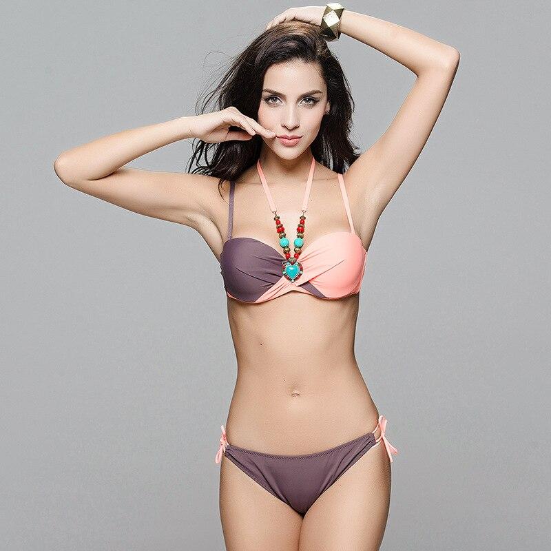 Plus Size swimwear Bodysuit Monokini Decorative Accessories Beachwear Bandage Swimsuit High neck Bikinis Set Halter Neck Trikini<br><br>Aliexpress
