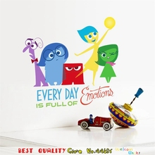Cartoon Movie Inside Out Wall Sticker Kids Room Decoration, Home Decor Party Supply Home Decals Wall Art Sticker Gift For Child(China)