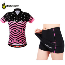 Buy WOSAWE Summer Female Mini Skirt + Shirt Ropa Ciclismo Cycling Jersey Sets Breathable MTB Bike Clothing Short sleeve clothes for $37.19 in AliExpress store