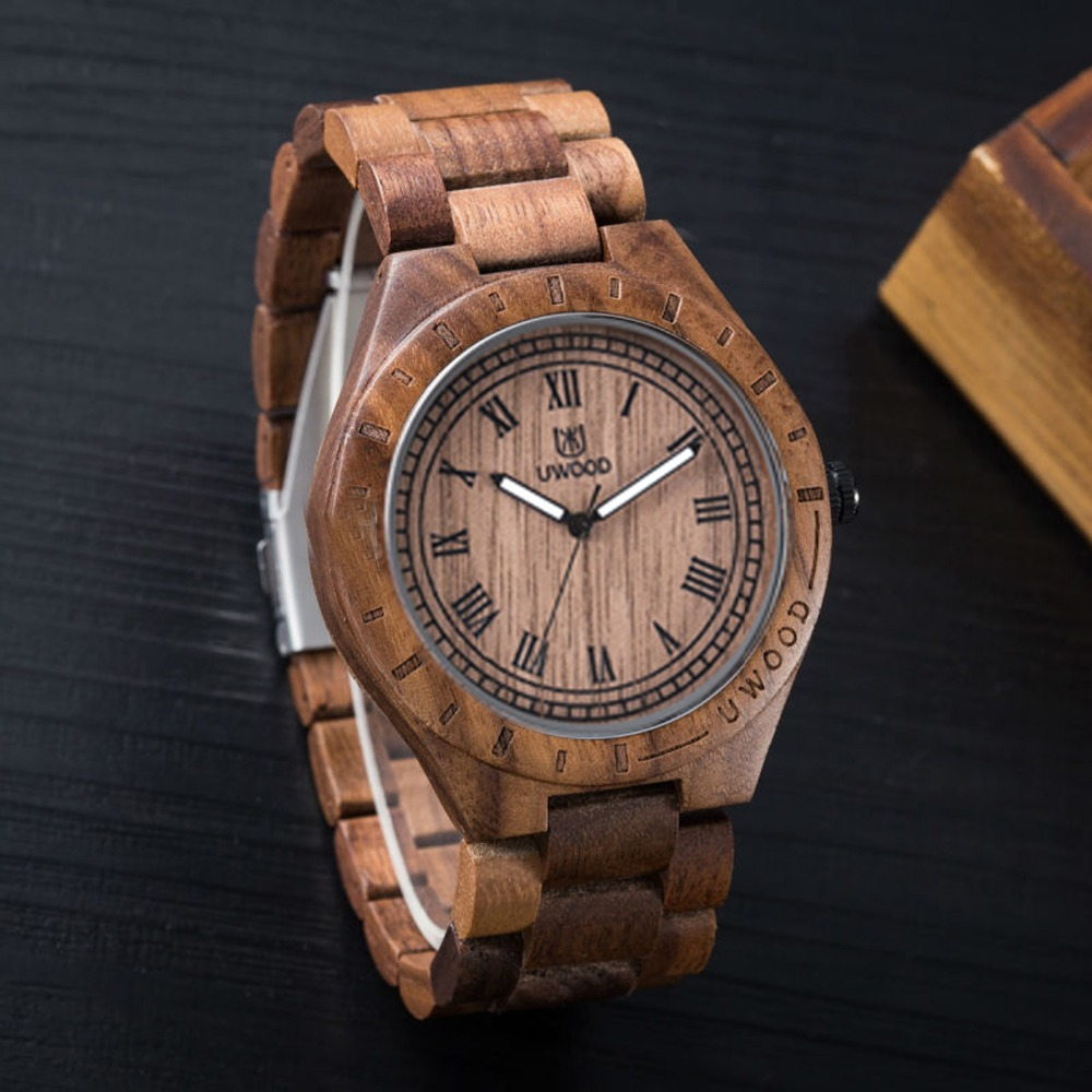2017 hot sell Fashion Natural All sandal Wood Watches Top Brand Luxury Men Wooden Wristwatch Wth Japanese 2037 Movement For Gift<br>