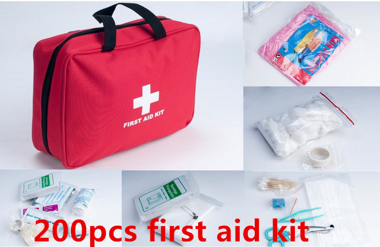 New arrival 220pcs earthquake disaster survival first aid kit free shipping FDA,CE&amp;ISO13485 approved<br>